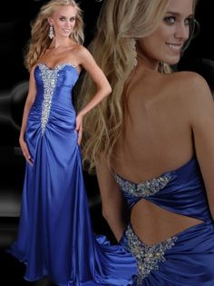 (NO.0260220)2012 Style A-line Sweetheart  Rhinestone Sleeveless Floor-length Matte Satin Prom Dresses / Evening Dresses