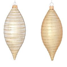 The Holiday Aisle Winter Sage Holiday Swirl Drop Ornament (Set of 36)