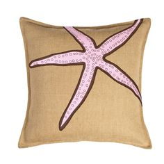 Features:  -Square shape.  -Hidden zipper closure.  -Pillow form insert.  -Shell made in India, filled and finished in USA.  -Burlap outer shell.  Product Type: -Throw pillow.  Style (Old): -Tradition