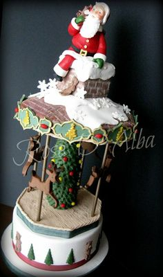 Santa Claus cake - by Rose D' Alba cake designer @ CakesDecor.com - cake decorating website