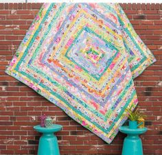 """You can't miss the Craftsy-exclusive Ice Cream Quilt Kit from FreeSpirit featuring fabric from the Kaffe Fassett Classics! You'll receive gorgeous Kaffe Classics fabric to sew this breathtaking 77"""" x 81"""" design plus instructions to create a Bobbi Penniman designed quilt. Featuring the sensational florals, vivid prints and bold hues that Kaffe is known for, this quilt top is sure to become a treasured family heirloom."""