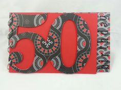 50th Birthday Guest Book handcrafted by Incy Wincy Designs