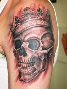 34 Best Skull With Crown Tattoo Designs Images Skull Tattoos