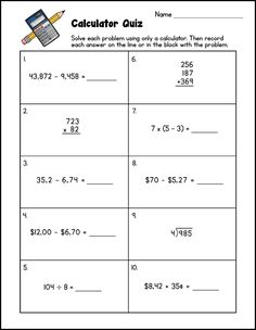 Six reasons to teach calculator skills to upper elementary students, including how calculators foster mathematical thinking. Free calculator quiz in the post! Elementary Math, Upper Elementary, Teacher Hacks, Best Teacher, Teaching Math, Teaching Resources, Math Problem Solving, Math Problems, Free Math