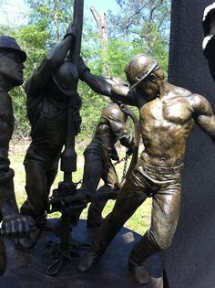 Oilfield Workers.  I saw this at the Bayou City Art Fest this year...stunning!