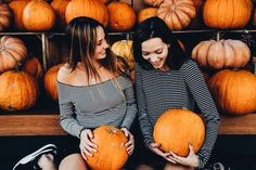 """""""No Pijon we don't needed to get a wheel barrel to carry our pumpkins back to… Fall Pictures, Fall Photos, Cute Photos, Cute Pictures, Fall Pics, Ottawa, Photo Portrait, Autumn Aesthetic, Best Friend Pictures"""
