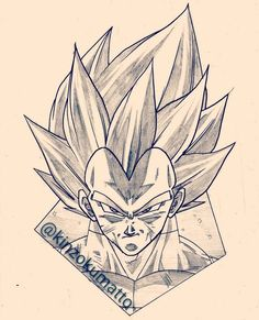 Super Saiyan Blue Vegeta by KinzokuMatto on DeviantArt<br> Dragon Z, Dragon Ball Gt, Ball Drawing, Drawing Art, Dbz Drawings, Majin Boo, Dope Cartoon Art, Blue Tattoo, Ink Illustrations