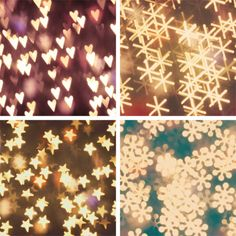 using a homemade filter & paper punch create your own Bokeh photos in front of the Christmas tree