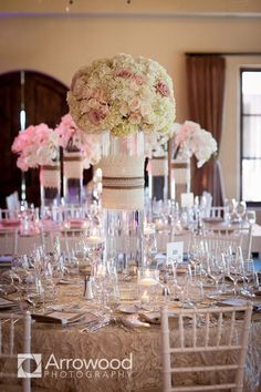 Napa Wedding with Wine Country Elegance from Arrowood Photography- flowers, just not high