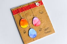 How to Make - Easter Egg Spring Card - Step by Step Diy Easter Cards, Diy Cards, Making Easter Eggs, Egg Card, Clear Stamps, Quilling, Coin Purse, Card Making, Drop Earrings