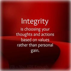Integrity is not backstabbing and throwing someone under the bus. Personal gain is your only goal...your true character and disloyalty are now known to all.   ✌️loyalty✌️