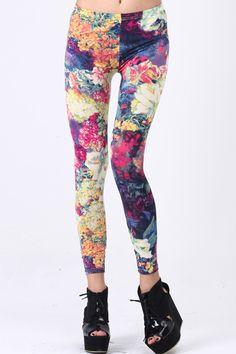 Flowers Print Leggings