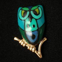 Owl Pin Vintage Eisenberg