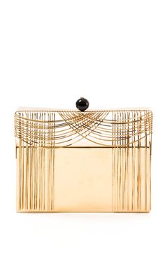 Theater Carillon Gold Clutch by Benedetta Bruzziches for Preorder on Moda Operandi