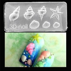 Sea Shell Mold-3D Molds take the tedious hand work & time out of 3D nail art! With the ability to use them with gel or acrylic the limits are endless! $6.95