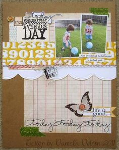 #papercrafting #scrapbook #layout by kendra