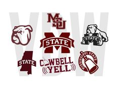 Mississippi State Bulldog Cutting Files by Vinyldecalsworld