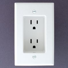 Such a great idea! - If you ever build or remodel - use recessed outlets so that the plugs don't stick out from the wall. This allows furniture to be flat against the wall.