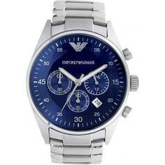4584b9dbd231 Emporio Armani Blue Dial Chronograph Mens Watch Ar5860 Mens Designer Watches,  Armani Watches For Men