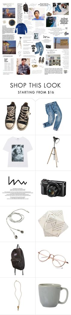 """""""ticket outta loserville"""" by lonaxos ❤ liked on Polyvore featuring Converse, Kenzo, Ethan Allen, Gatsby, Dot & Bo, JanSport, The Giving Keys, Juliska, men's fashion and menswear"""