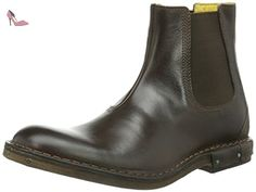Fly London Hobb, Bottes chelsea homme - Marron - Braun (Dark Brown 001), 42 EU (8 Homme UK) EU - Chaussures fly london (*Partner-Link)