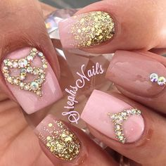 Baby Pink, Nude & Bling✨ #stephsnails