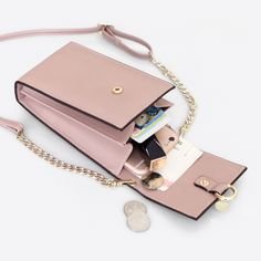 PU Leather Wallet Phone Case Card Solt Chain Strap Vertical Shoulder Bag for iPhone Xiaomi Samsung Sale - Banggood Mobile Phone Wallet, Phone Cases, Leather Wallet, Leather Bag, Diy Accessoires, Small Leather Goods, Mode Style, Seychelles, Travel Accessories
