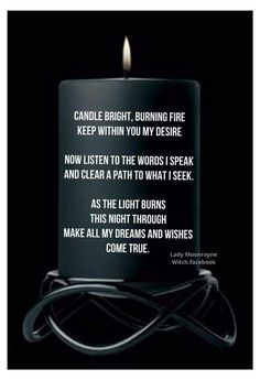 Candle spell...
