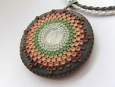 Polymer clay necklace pendant