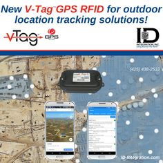 Shows two smartphones displaying map locations & data for conceptually positioned V-Tag GPS tags Tracking Software, Tracking System, Radio Frequency Identification, Temperature And Humidity, Data Science, Improve Yourself, Challenges, Technology, Tecnologia