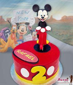 Tarta de Mickey montado en su moto