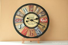 Blanche Wall Clock by SilkEst on Etsy