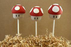 looks like mushroom cakepops Fancy Cakes, Cute Cakes, 40th Birthday Parties, Birthday Ideas, Baking Ideas, Baking Recipes, Mushroom Cake, Cake Pop Designs, Friends Cake