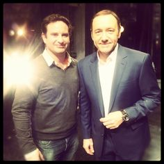 Charlie P on set with Kevin Spacey #kevinspacey #celebrity #theoldvic