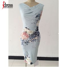 Cheap dress up casual dress, Buy Quality dress fitness directly from China dresses for big breasted women Suppliers:             IDress Women Elegant Work Wear Dress Summer Style Flor