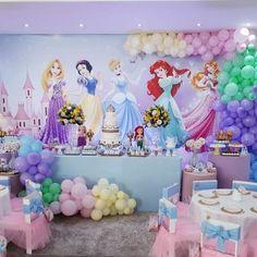 Princess Birthday Party Decorations, Disney Princess Birthday Party, Princess Theme Party, Baby Shower Princess, Birthday Party Themes, 4th Birthday, Birthday Ideas, Party Printables, Disney Princess Birthday