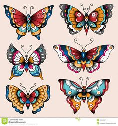 traditional butterfly tattoo - Cerca con Google