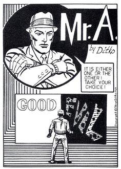 Mr. A Comic Book Artists, Comic Books, Steve Ditko, Stan Lee, American Comics, Illustrator Tutorials, Doctor Strange, Stevia, Marvel Comics
