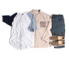 남자 오버사이즈 슬라브 7부 나그랑티- [존클락]30대 남자옷쇼핑몰, 깔끔한 캐쥬얼 데일리룩, 추천코디