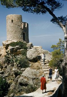 Historic watchtowers    As a former trading post for Mediterranean powers, Mallorca's coast is lined with watchtowers like the Tower of Souls near Banalbufar (pictured). (Franc and Jean Shor/National Geographic Stock)