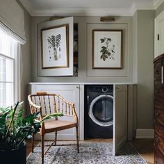 Vintage Shelving, Laundry Room Design, Laundry Area, Laundry Rooms, Master Bedroom Design, Mudroom, Decoration, Living Spaces, Living Room