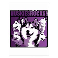 Huskies Rock! Postcard   rottweiler american, pitbull rottweiler mix, rottweiler halloween #rottweilers #rottweilerpuppies #rottweilermix Rottweiler Training, Rottweiler Puppies, Husky, Love You, Rock, Doberman, Halloween, Design, Te Amo