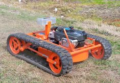Hybrid GOAT ROBOT 22T Evatech's 8MPH mower can be manned from 2,000 feet away. It takes on 70-degree slopes at and also has a snow plow implement.