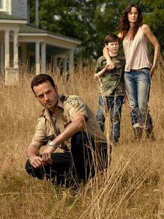 The Walking Dead: Rick, Lori and carl