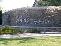 Solera at Johnson Ranch-Active Adult Homes in San Tan Valley AZ 121613 Entrance Signage, Entrance Design, Entrance Gates, Entrance Ideas, San Tan Valley Arizona, 70s Party Decorations, Monument Signs, Entry Wall, Las Vegas Real Estate