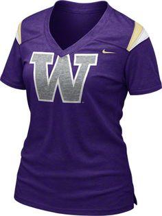 Washington Huskies Women's Purple Nike Football Replica T-Shirt |Pinned from PinTo for iPad|