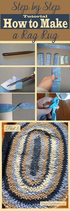 Making Toothbrush Rag Rug Tutorial Part 1 of 4 - DaytoDayAdventures.com