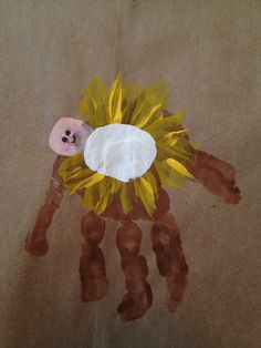 Handprint Baby Jesus in Manger Snowy days are big craft days around our house - especially with a new baby. While thinking of Christmas themed projects, inspiration hit for this sweet handprint craft. It also gave me the opportunity to talk with my 2 year Preschool Christmas, Christmas Crafts For Kids, Christmas Activities, Preschool Crafts, Christmas Themes, Kids Christmas, Holiday Crafts, Holiday Fun, Jesus Crafts