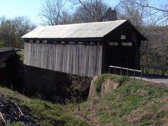 Ringo Mills, 86', 1868, closed to motor traffic, across Fox Creek SE of Hillsboro, Fleming County, KY.