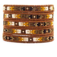 Chan Luu - Brown Mix Wrap Bracelet on Natural Brown Leather, $210.00 (http://www.chanluu.com/wrap-bracelets/brown-mix-wrap-bracelet-on-natural-brown-leather/)